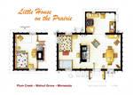Floorplan of the LITTLE HOUSE ON THE PRAIRIE