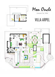 Floorplan of Villa Arpel from the film MON ONCLE by nikneuk