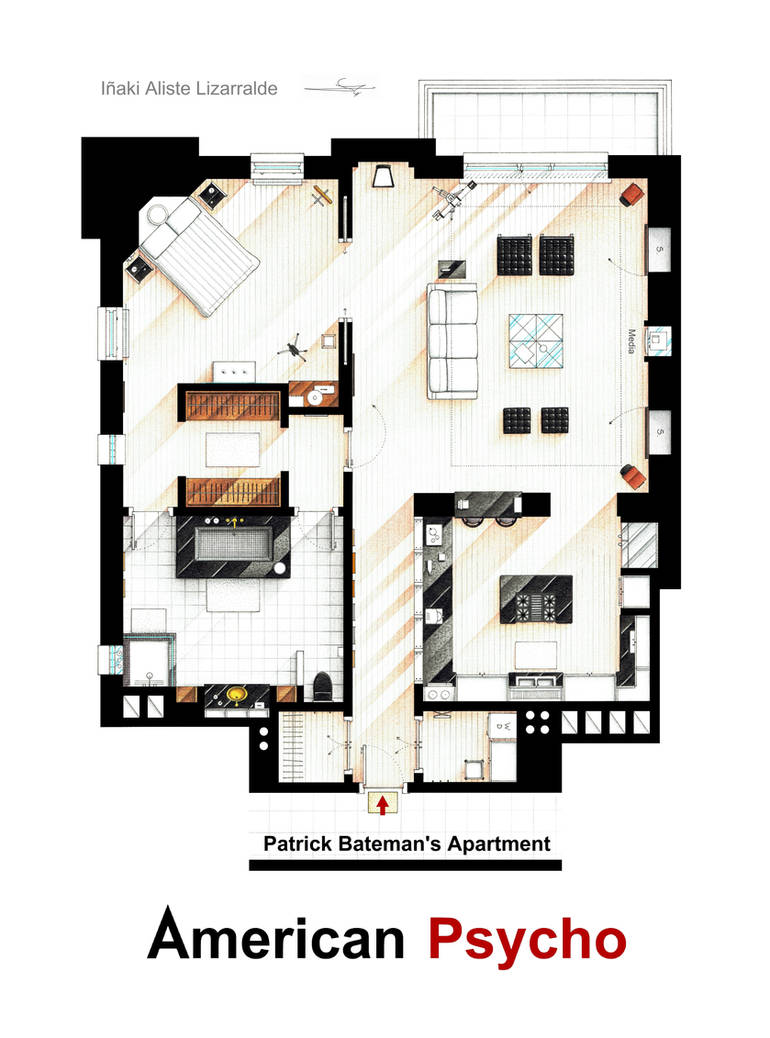 Patrick Bateman S Apartment From American Psycho By Nikneuk