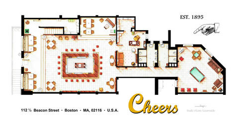 Floorplan of the bar CHEERS by nikneuk