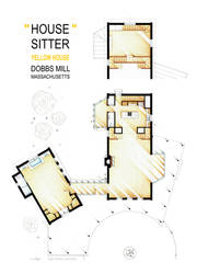 Floorplan of the Yellow House from the HOUSESITTER