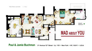 Floorplan of the apartment from MAD ABOUT YOU