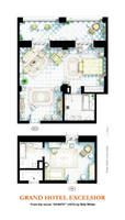 Floorplan of suite and room from the movie AVANTI!
