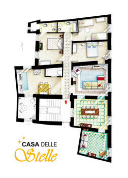 Floorplan of Casa Delle Stelle in Lucca (Italy)