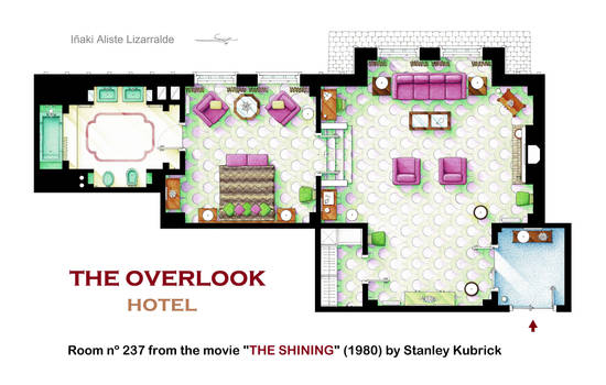 Floorplan of the Room 237 from THE SHINING