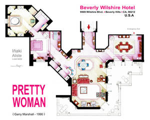 Floorplan of the suite from the movie PRETTY WOMAN