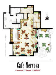 Floorplan of CAFE NERVOSA from the TV series FRASI
