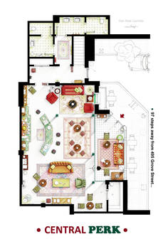 Floorplan of the Central Perk from FRIENDS