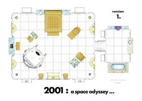 Floorplan of the room at the end of 2001