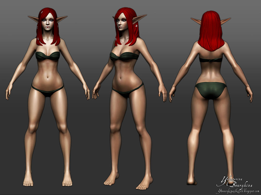 Female Anatomy Base Sculpt by YBourykina on DeviantArt