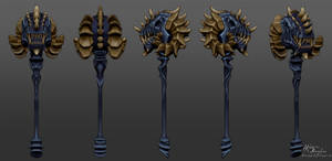 High Poly Mace Poly Painted by YBourykina