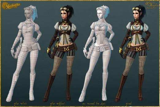 Lady Mechanika: Construction