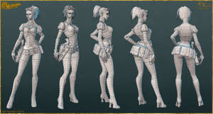 Lady Mechanika: AO, Normals, and Wires