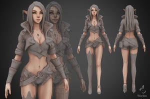 Archer Lady Sibill WIP3 by YBourykina