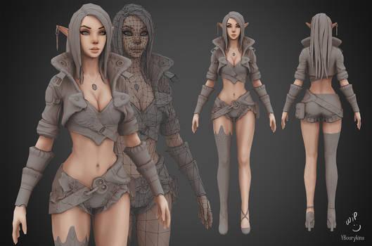 Archer Lady Sibill WIP3