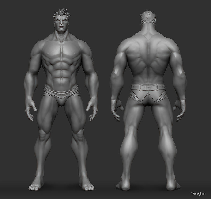 Male Anatomy Study by YBourykina on DeviantArt