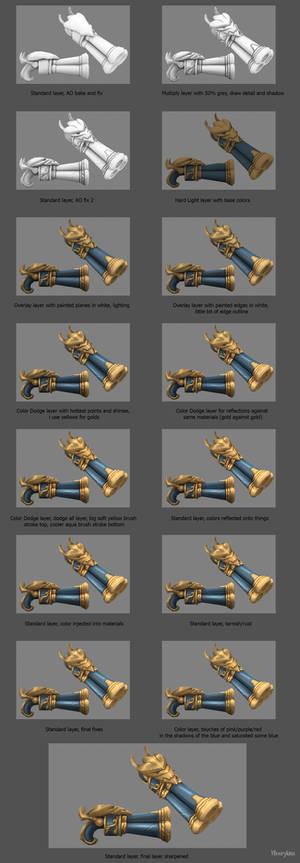 Captain Fortune's Gun Texturing Process