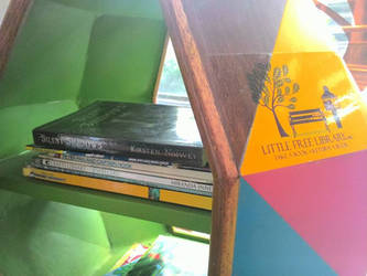 Silent Shadows at Little Free Library by kirstennimwey