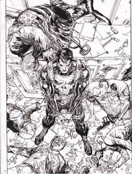 Punisher YU pencils Ray inks