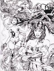 W.W. ,H.Q. ,P.I. David Lima pencils RAY inks