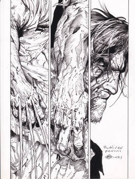 Death of Wolverine McNiven pencils Ray inks