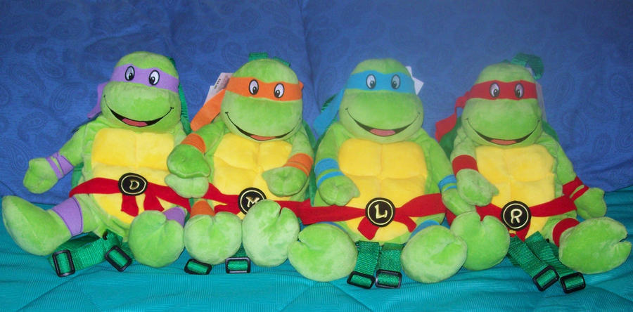 Ninja Turtle Backpack Plushies by animelover2day