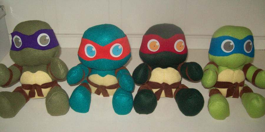TMNT plushies by animelover2day