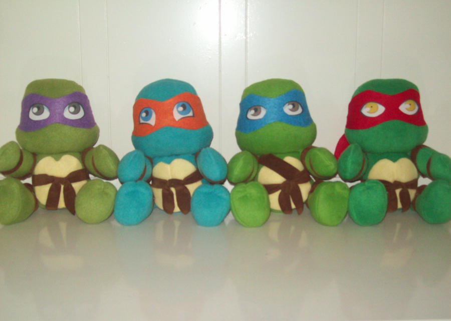 New TMNT plushies by animelover2day