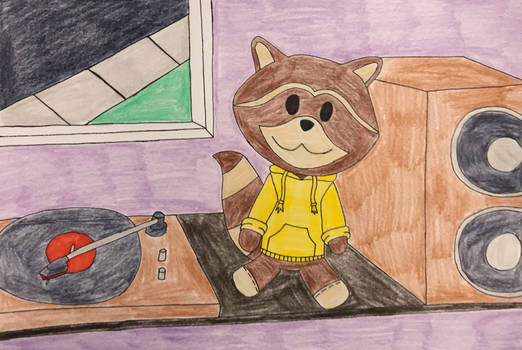 Chillhop Raccoon Plushie (Contest Entry)