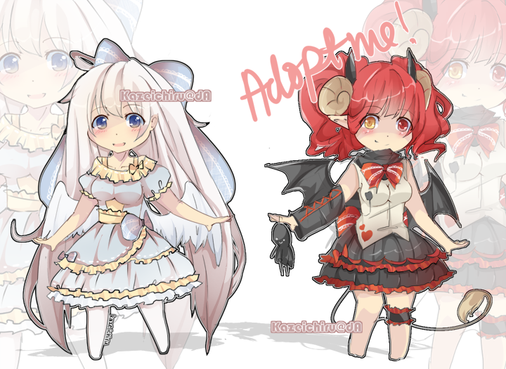 Adoptable Raffle 02 [Closed] + CM:neko-loverx3 by kazeichiru