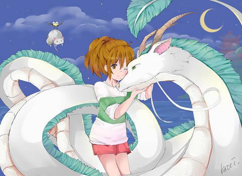 Spirited Away: Haku and Chihiro