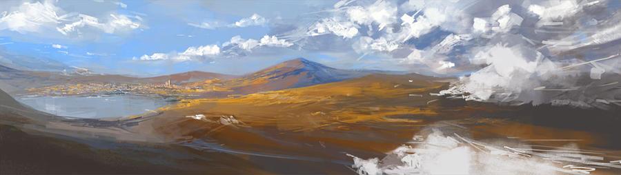 landscape sketch by raqmo
