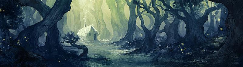 art dark car forest - photo #10