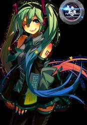 Hatsune Miku Render by BloodAkenoArt
