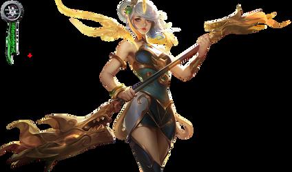 League of Legends Lunar Empress Lux Render by BloodAkenoArt