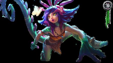 League of Legends Neeko Render by BloodAkenoArt