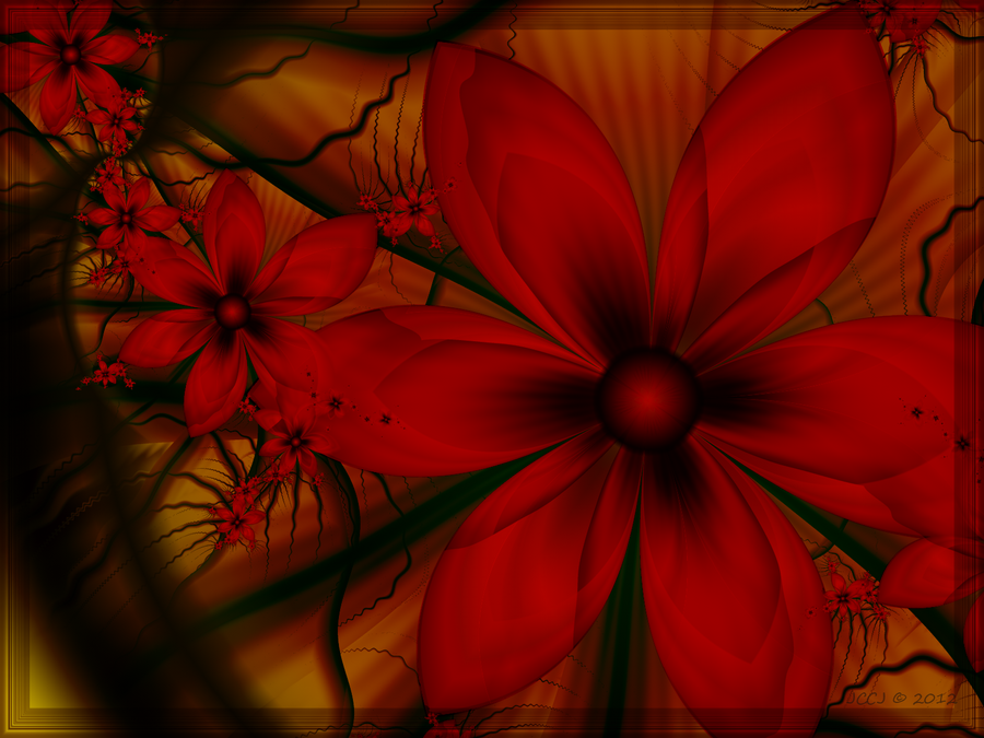 Burnt Orange Blooms by JCCJ756