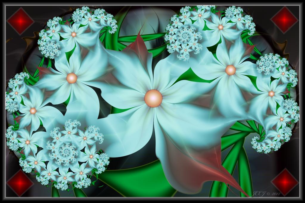 Light Blue Blooms by JCCJ756