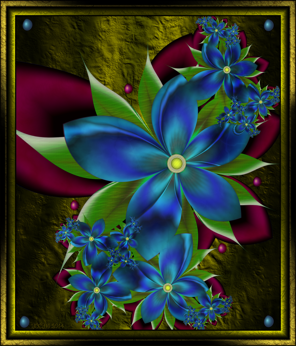 Blue Flowers 1  2014 by JCCJ756