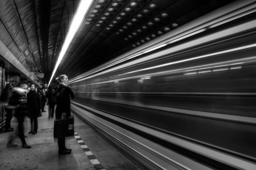 subway black and white by voogac on deviantart