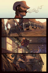 Outlaw Territory pg1 color by ZurdoM