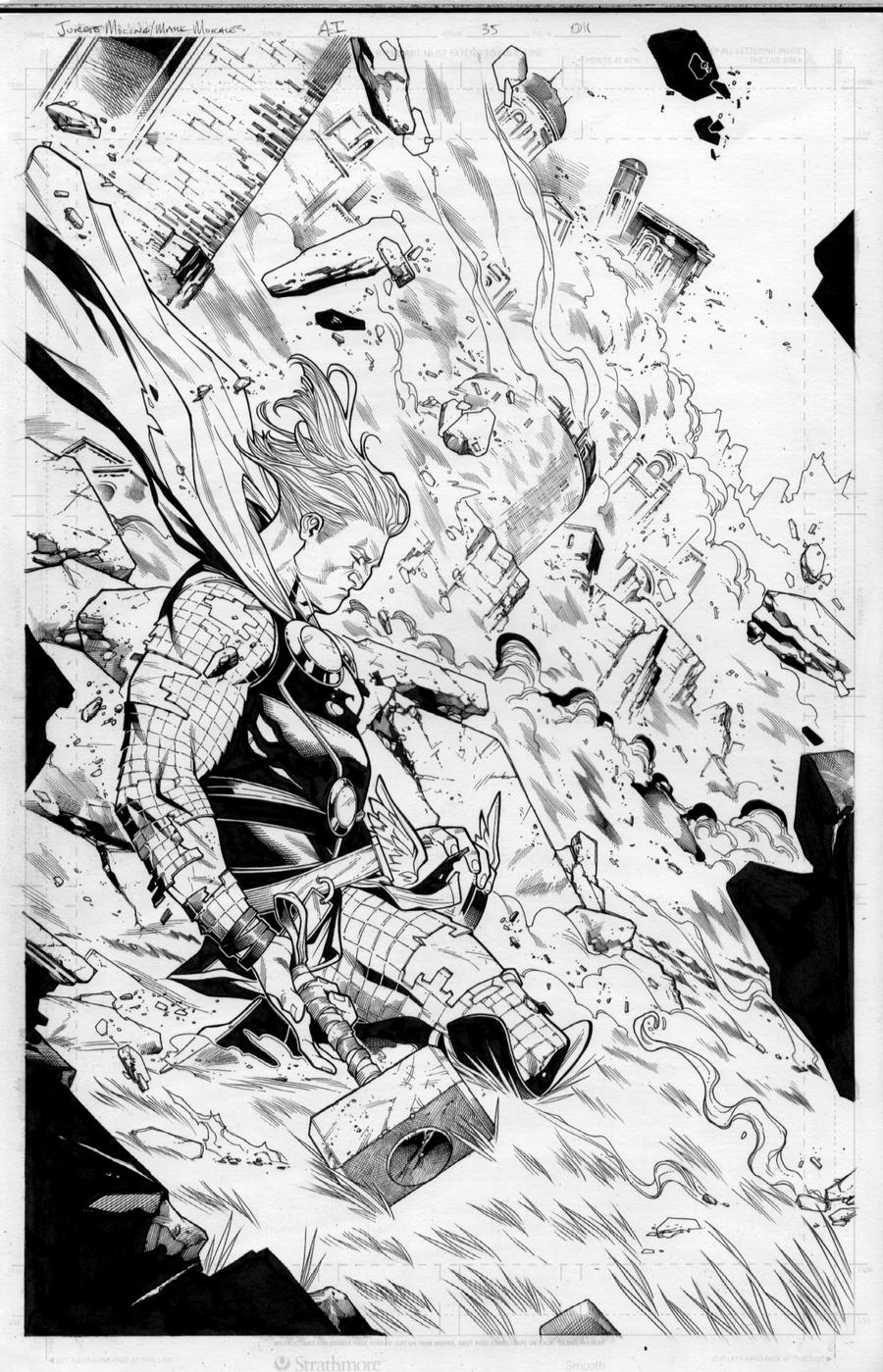 Mark Morales Thor inks by ZurdoM