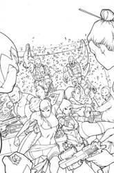 X-MEN 27 Inks by ZurdoM
