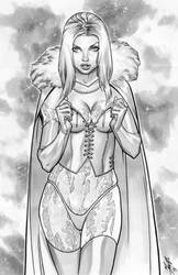 Emma Frost Commission by ZurdoM