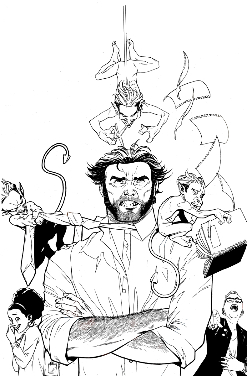 Wolverine and The X-Men #3 Inks by ZurdoM