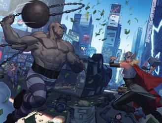 Thor #5 splash page by ZurdoM