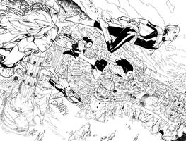 A-Force #1 Inks by ZurdoM