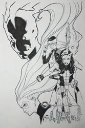 A-Force #3 Inks by ZurdoM