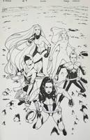 A-Force #4 Inks by ZurdoM