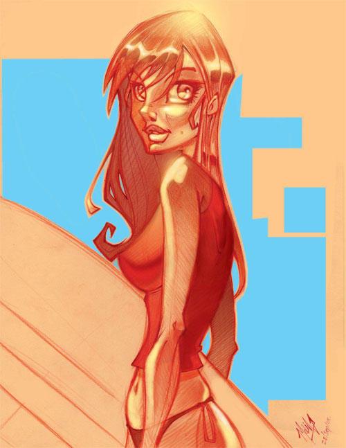 beach girl by ZurdoM